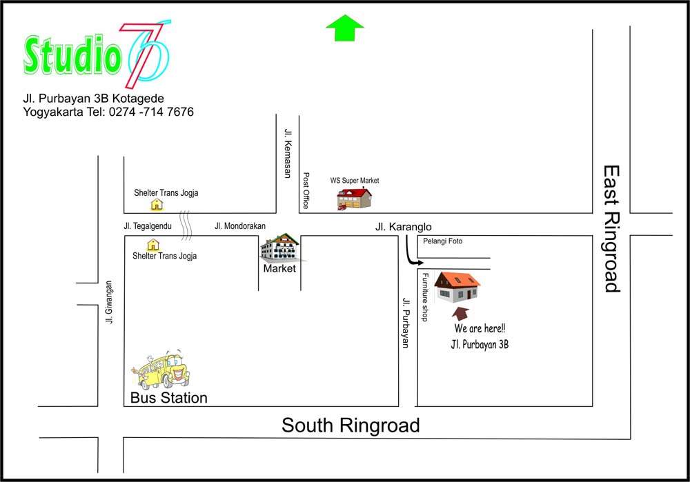 Map to Studio 76